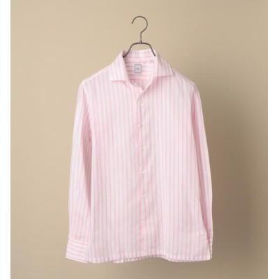 【シップス/SHIPS】 SD: ウォッシュド ICE COTTON(R) ワンピース ストライプ ピンク シャツ