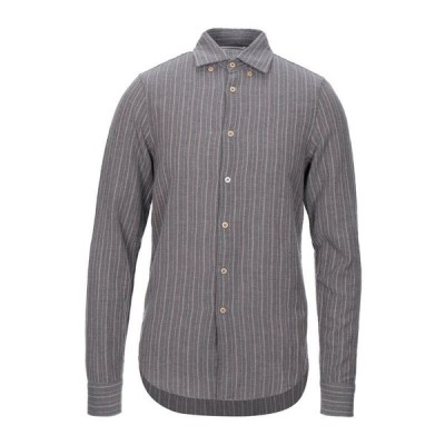 NOVEMB3R ストライプ柄シャツ ファッション  メンズファッション  トップス  シャツ、カジュアルシャツ  長袖 グレー