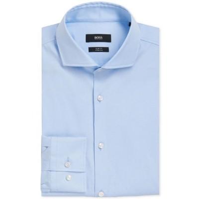 ヒューゴボス シャツ トップス メンズ BOSS Slim-Fit Dress Shirt LT BLUE