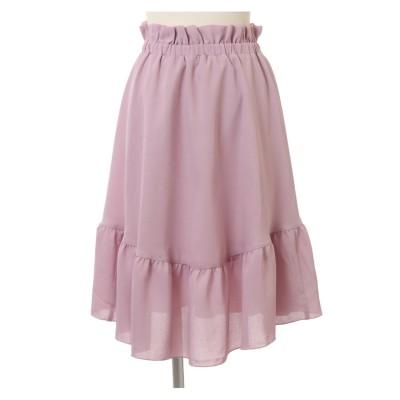 楊柳シフォン切替スカート