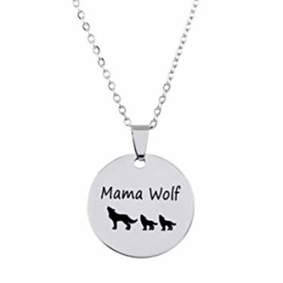 Winssi Mama ウルフネックレス ママ-赤ちゃんネックレス 家族への贈り物