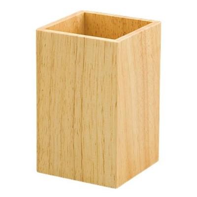 SC 木製カトラリースタンド ナチュラル [ 約8 x 8 x H13cm ] 【 卓上用品 】 | 飲食店 和食 定食 洋食 蕎麦屋 ラーメン店 店舗 業務用