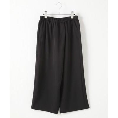 MARcourt/マーコート wrap like pants black 2