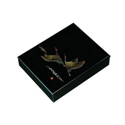 山家漆器店 10.0 文庫 黒塗 ツルの舞 紀州漆器
