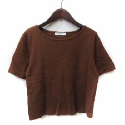 【中古】マウジー moussy ニット セーター 半袖 F 茶 ブラウン /YI レディース