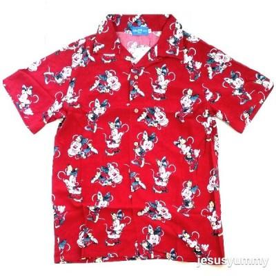ミニー アロハシャツ 赤 レッド 半袖シャツ S,M,L 2020 ミニーマウス 東京ディズニーリゾート限定 【DISNEY】
