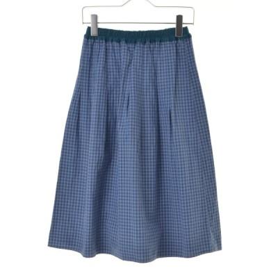 caban / キャバン ギンガムチェックギャザーロング スカート