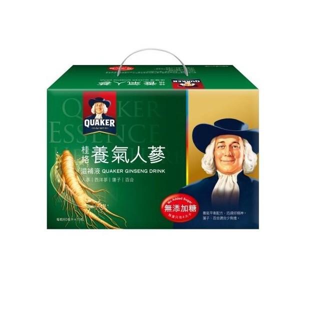 桂格無糖養氣人蔘盒裝19瓶