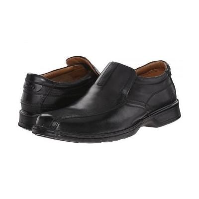 Clarks クラークス メンズ 男性用 シューズ 靴 ローファー Escalade Step - Black Leather