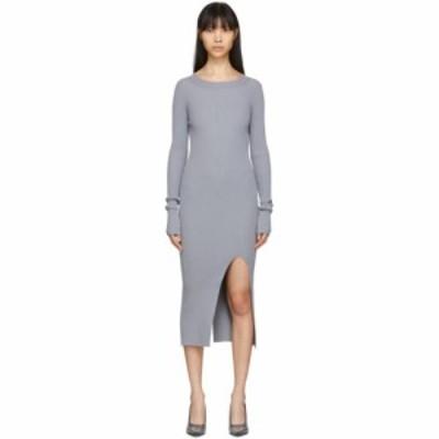 メゾン マルジェラ MM6 Maison Margiela レディース ワンピース ワンピース・ドレス Grey Ribbed Dress Grey