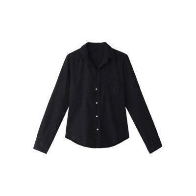 Frank&Eileen フランク&アイリーン 【日本限定】BARRY ノーダメージブラックデニムシャツ レディース ブラック XS
