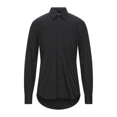 アレキサンダー マックイーン ALEXANDER MCQUEEN シャツ ブラック 15 ½ コットン 78% / ナイロン 16% / ポリウレタ