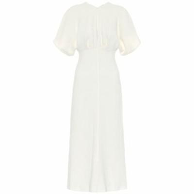 ヴィクトリア ベッカム Victoria Beckham レディース ワンピース ミドル丈 ワンピース・ドレス Crepe midi dress Off White