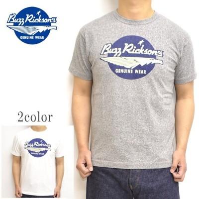 バズリクソンズ BUZZ RICKSONS BR78511 半袖Tシャツ スラブヤーンT  ブランドロゴプリント ミリタリー メンズ トップス