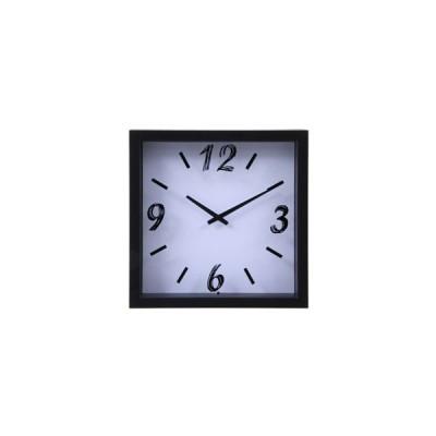不二貿易 掛時計 ペイント □23cm WH 99031