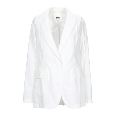 MM6 メゾン マルジェラ MM6 MAISON MARGIELA テーラードジャケット ホワイト 42 コットン 65% / ポリエステル 35%