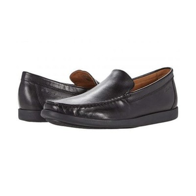 Clarks クラークス メンズ 男性用 シューズ 靴 ローファー Ferius Creek - Black Leather