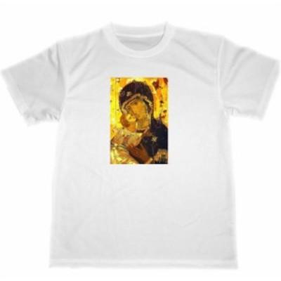 ウラジミールのマリア イコン ドライTシャツ キリスト教 マリア グッズ