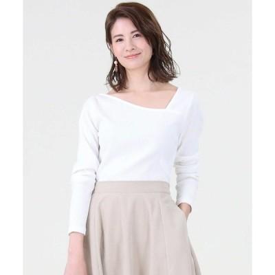 tシャツ Tシャツ 【HONEYSUCKLE ROSE】アシメネックロンT