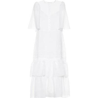 クロエ See By Chloe レディース ワンピース ティアードドレス ワンピース・ドレス Tiered dress White