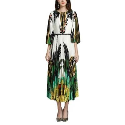 バーリコ レディース ワンピース トップス BURRYCO Midi Dress white & multicolor print