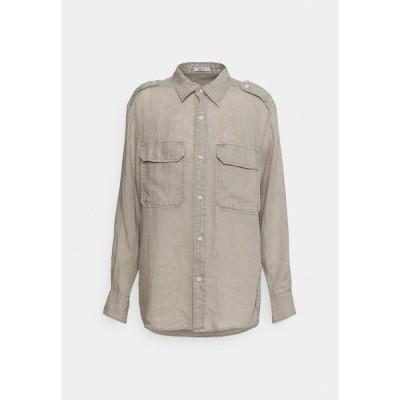 リプレイ シャツ レディース トップス Button-down blouse - sand