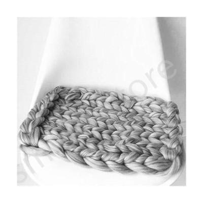 新品未使用!!送料無料!!Chunky Blanket Fashion Hand Chunky Wool Knitted Blanket Thick Yarn Merino Wool Bulky Knitting Throw Blankets