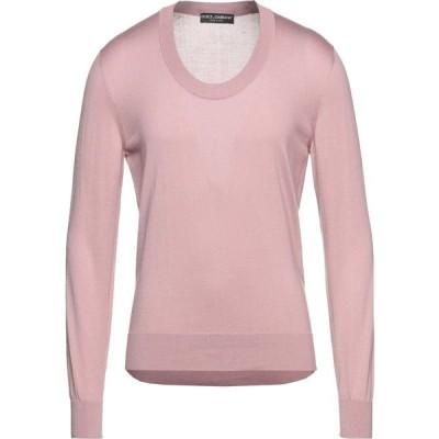 ドルチェ&ガッバーナ DOLCE & GABBANA メンズ ニット・セーター トップス Sweater Pastel pink