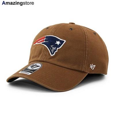 47ブランド カーハート ニューイングランド ペイトリオッツ 【CARHARTT NFL CLEAN UP STRAPBACK CAP/BROWN】 47BRAND NEW ENGLAND PATRIOTS