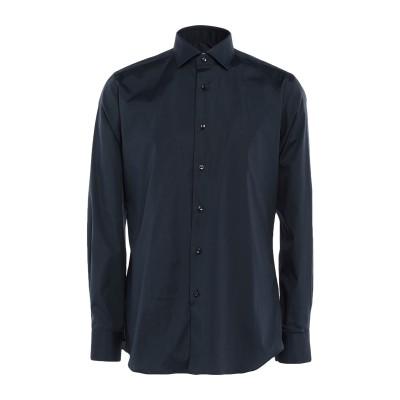 XACUS シャツ ダークブルー 37 コットン 96% / ポリウレタン 4% シャツ