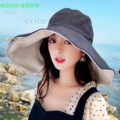帽子 レディース uvカットハット フィッシャーマンズハット あご紐 韓国 黒アウトドア 夏 ビーチ 日焼け防止 ぼうし つば広 紫外線カット プレゼント オシャレ