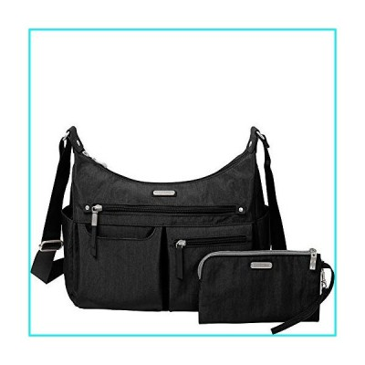 """Baggallini New Classic""""Heritage"""" Anywhere Large Hobo with RFID Phone Wristlet Black One Size【並行輸入品】"""