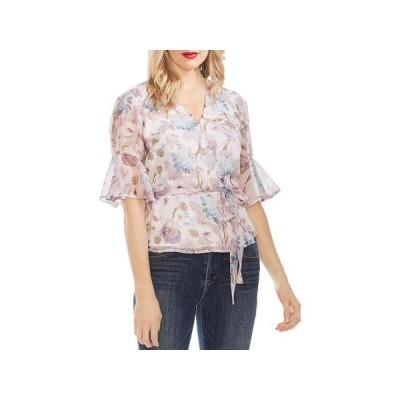 レディース 衣類 トップス Vince Camuto Womens Floral Print Peplum Wrap Top ブラウス&シャツ