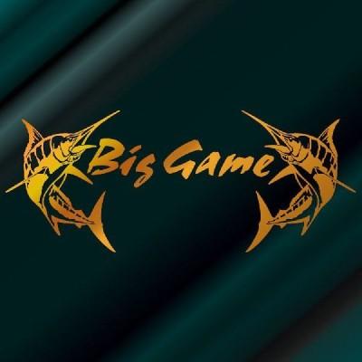 カジキ ステッカー 釣り プロ サイズ:24cm×58cm (金色)    釣師が絶賛!する釣ステッカー  圧巻のインパクト!  Big Game