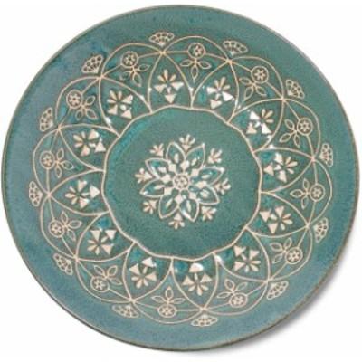 みのる陶器(Minorutouki) 大皿 モロッカン グリーン L(直径24cm)
