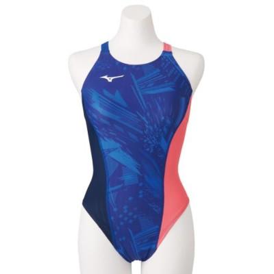 ミズノ 競泳練習用エクサースーツUP ミディアムカット[レディース] 20リフレックスブルー S スイム 競泳水着 エクサースーツ(練習用水着) N2MA0761