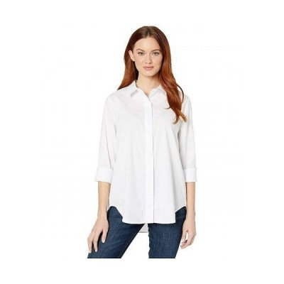Liverpool ライブプール レディース 女性用 ファッション ブラウス Shirt with Hidden Placket - White