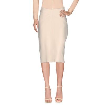 ELISABETTA FRANCHI ひざ丈スカート アイボリー 40 レーヨン 51% / アセテート 46% / ポリウレタン 3% ひざ丈スカ