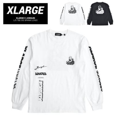 XLARGE × JUNGLES エクストララージ × ジャングルズ ロンT L/S TEE OG SPHINX LOGO 長袖 Tシャツ 101203011042 単品購入の場合はネコポス便発送