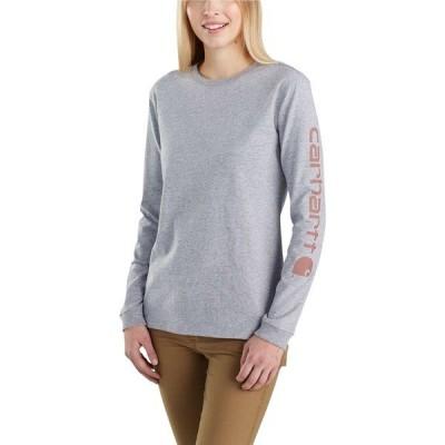 カーハート シャツ トップス レディース Carhartt Women's Workwear Sleeve Logo Long-Sleeve T-Shirt HeatherGrey