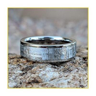 New 7mm Wide Meteorite Ring with Strengthened Cobalt Chrome Sleeve - COB-7F-Meteorite