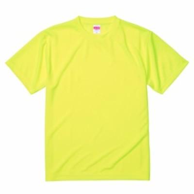 Tシャツ 半袖 メンズ ドライ アスレチック 4.1oz XL サイズ 蛍光イエロー 無地 ユナイテッドアスレ CAB