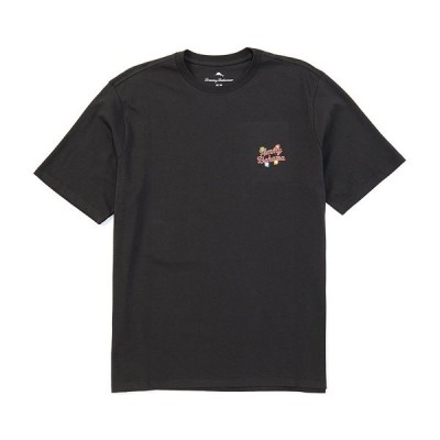 トッミーバハマ メンズ Tシャツ トップス Very Merry Mary Short-Sleeve Tee Coal