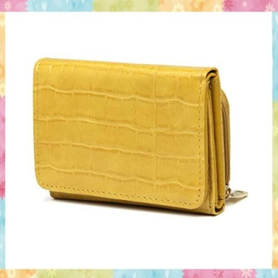 【グッシオ】財布 レディース コンパクト ミニサイズ 三つ折り財布 婦人用 小さい財布 クロコ柄 パイソン柄 ア