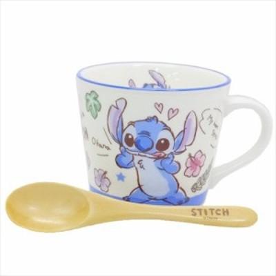 ◆グラフィティ ウッドスプーン付きマグ ステッチ (ディズニー)コーヒーカップ、マグカップ おしゃれ マグ 食器(426)