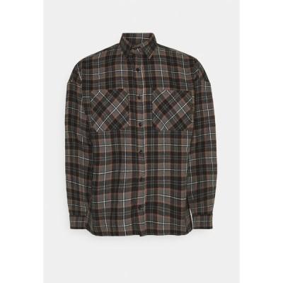 グッドフォーナッシング シャツ メンズ トップス CHECK - Shirt - brown