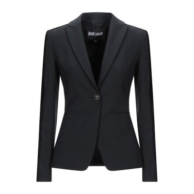 ジャストカヴァリ JUST CAVALLI テーラードジャケット ブラック 40 ポリエステル 53% / バージンウール 43% / ポリウレタン