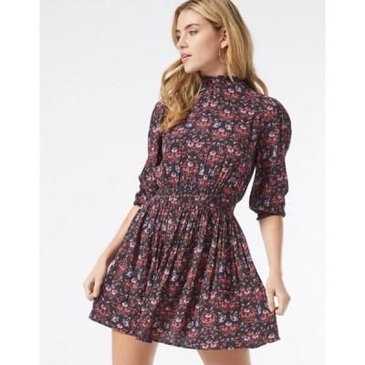 ミスセルフフリッジ レディース ワンピース トップス Miss Selfridge fit & flare mini dress in paisley print