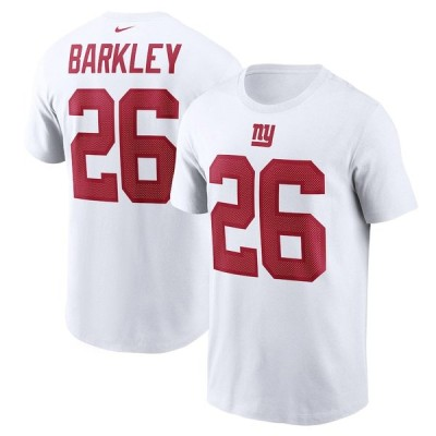 "ナイキ メンズ Tシャツ Saquon Barkley ""New York Giants"" Nike Name & Number T-Shirt - White"