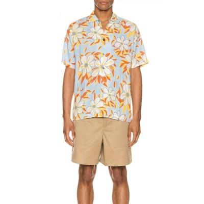 エンドレス ジョイ Endless Joy メンズ 半袖シャツ トップス Acid Flower Aloha Shirt Sky Multi